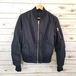 Topshop | Navy Blue Bomber Ma1 jacket